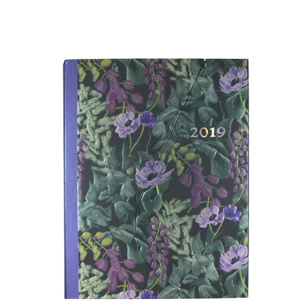 Agenda 2019 con diseño de flores, tamaño A5, magnética, 2 ...