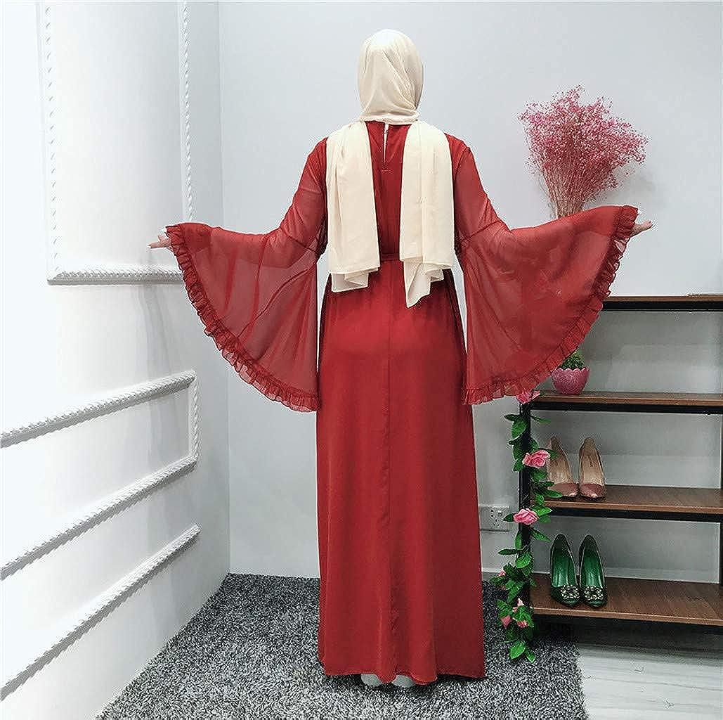 Ni_ka - Vestido Elegante de Manga Larga con Capucha para Mujer ...