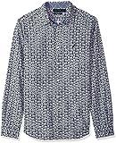 Nautica - Camisa de Manga Larga para Hombre, Corte clásico, a Cuadros, con Botones