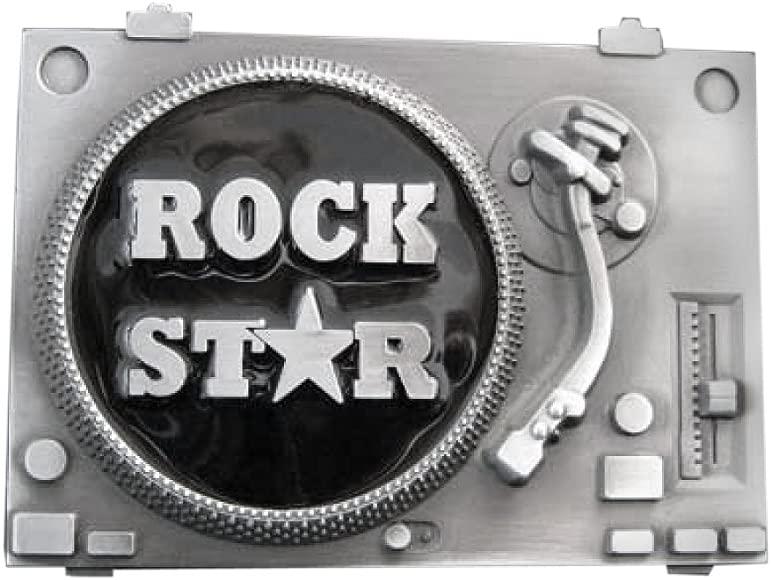 Rock Star marcas, tocadiscos, perfecto para Djs - hebilla de cinturón