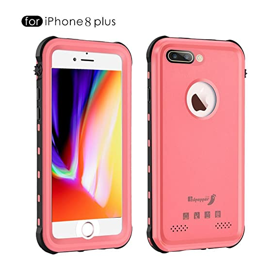 buy online 5f7b6 fa612 iPhone 8 Plus Waterproof Case,Mangix Waterproof with Touched ID Transparent  Screen Protector Heavy Duty Protective Carrying Cover Case includes Back ...