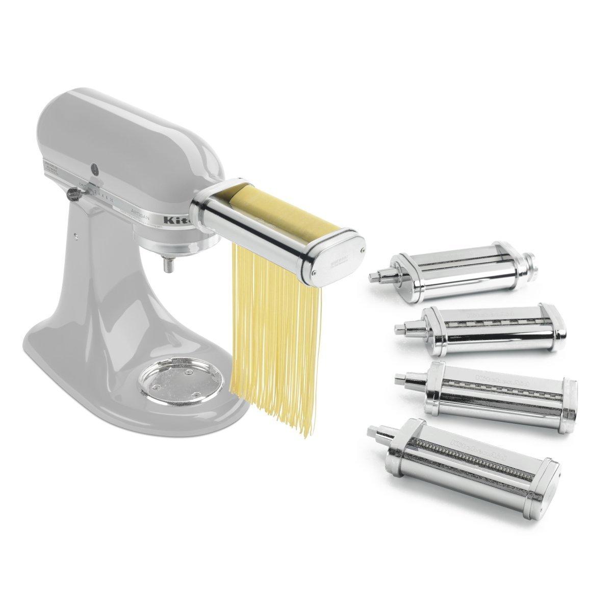 KitchenAid Pasta Deluxe Set (Pasta Roller, Spaghetti Cutter, Fettuccine Cutter, Capellini Cutter, Lasagnette Cutter)