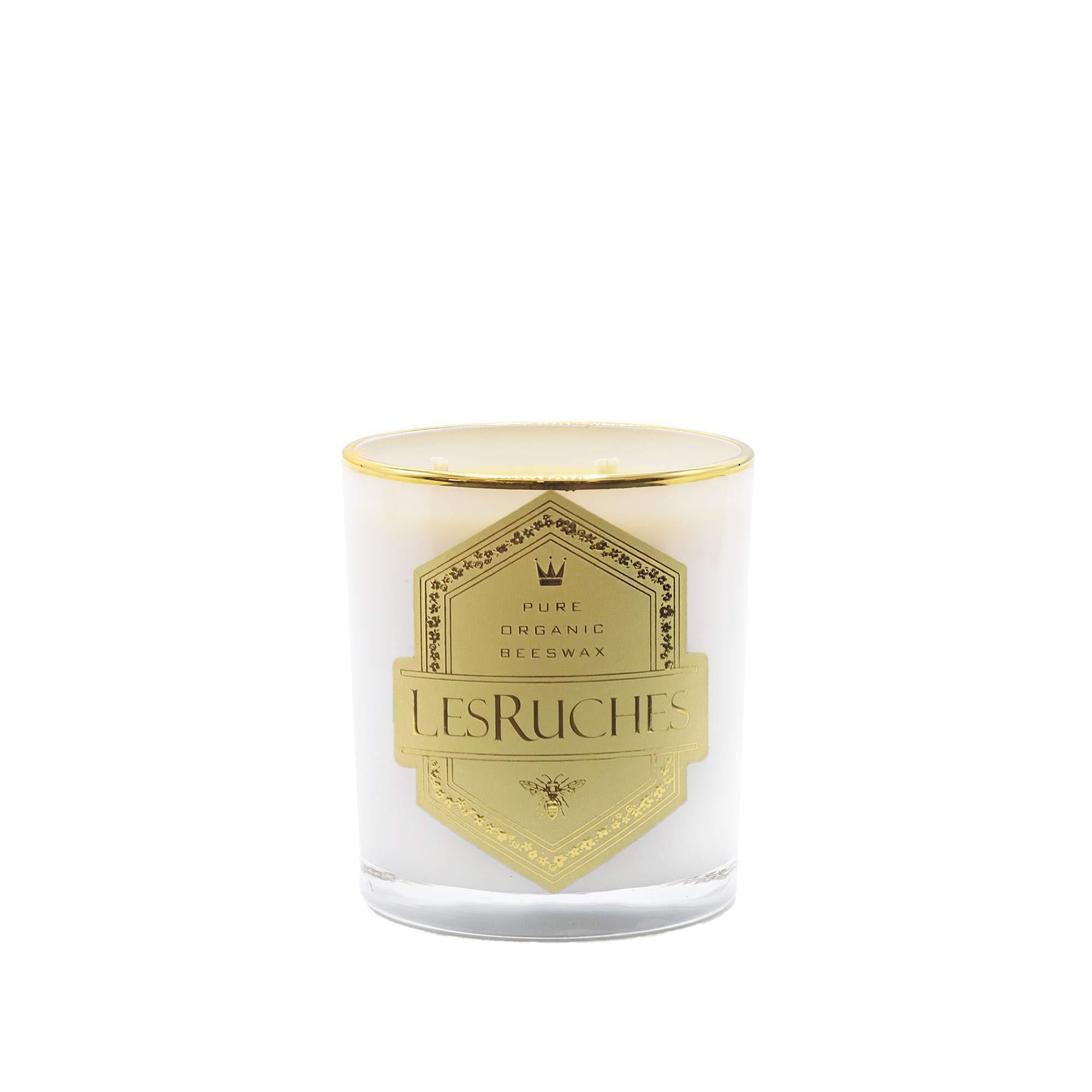 LesRuches Veloute Tubereuse Organic Beeswax Luxury Candle (Velvet Tuberose) 9.5 oz.