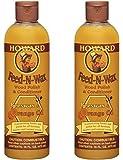 SET of 2 Howard Feed-n-wax Wood Polish & Conditioner Beeswax Polish 16oz
