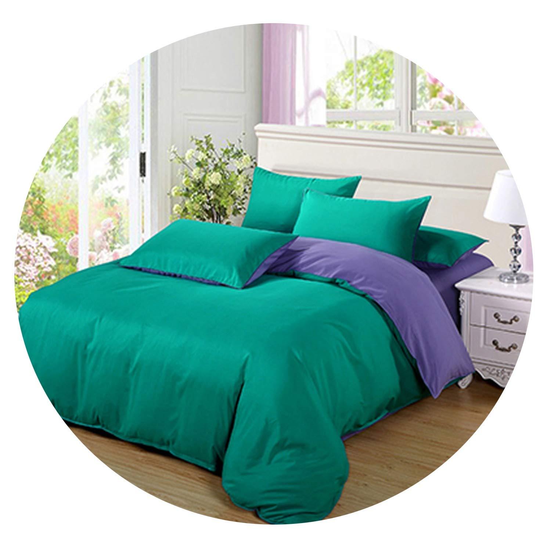 Victoria-show-bedspread-sets Bedding Solid Color Double-Fight Four-Piece Set Scrub Aloe Vera Silk Simple Home Textile Bedroom,8,King