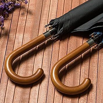 Reise MAYUAN520 Business /_ Holz Mit Regenschirm Schirm Mit Klassischen Britischen Stil Schirm Bar Mit Gro/ßen Leicht Zu Tragen Schirm Mit