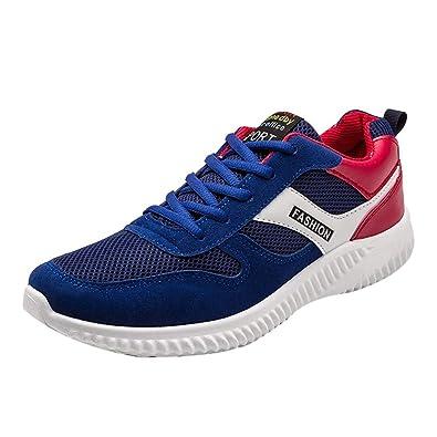 fe212c31639600 GongzhuMM Sneakers Homme Maille Hiver Chaussures de Course Hommes Baskets  de Jogging Sport à Bout Rond