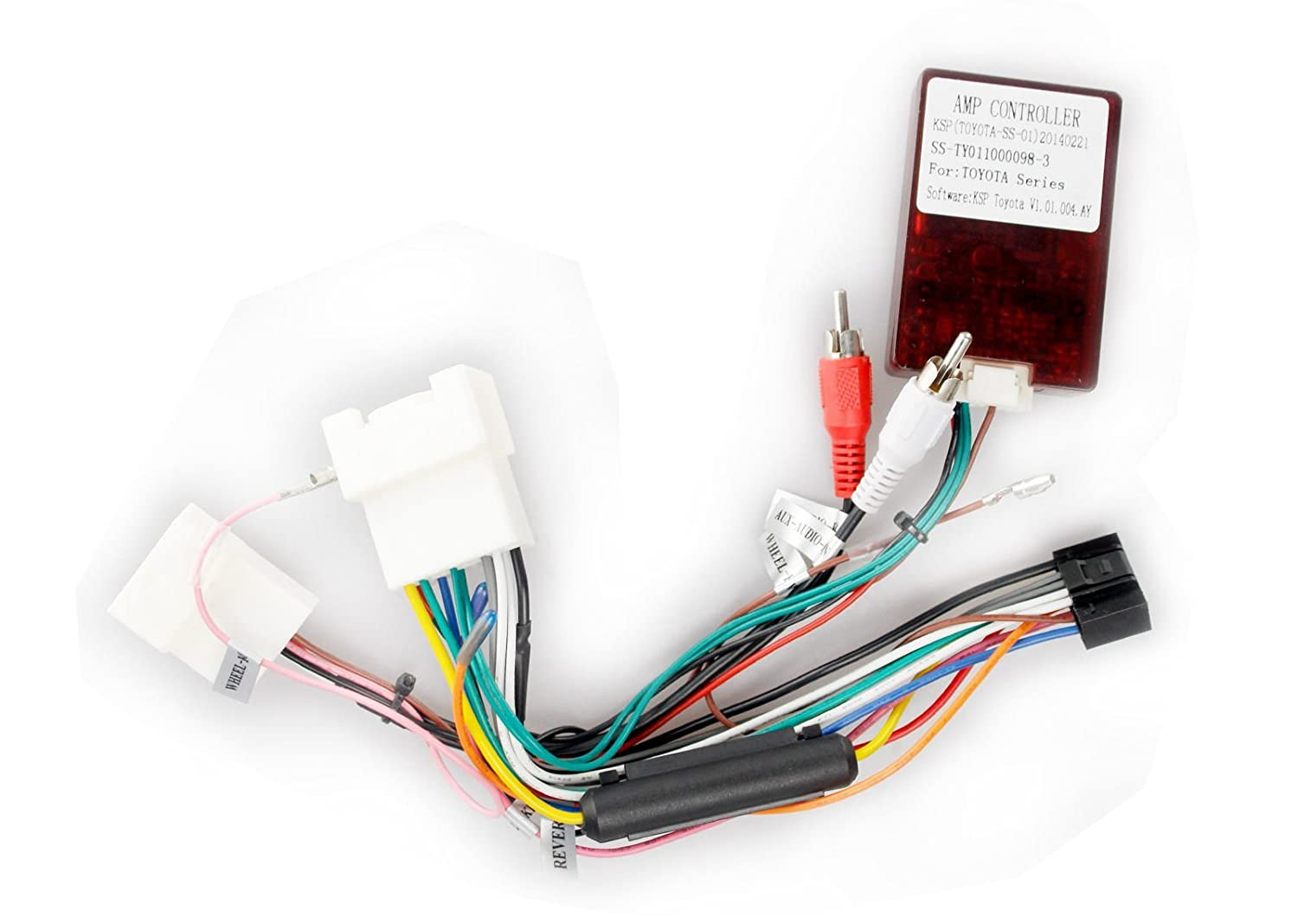 61fZW4TmG1L._SL1500_ amazon com jbl adapter harness for car stereo in toyota camry wiring harness adapter toyota camry at gsmx.co
