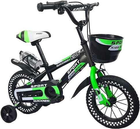 JIANPING Niños 2-8 Años del Bebé Bici Bicicleta Bicicleta Verde 100 Kg Bicicleta para niños (Size : 12inch): Amazon.es: Hogar