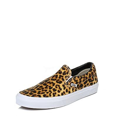 timeless design f3521 14307 Vans Damen Leopard Print Braun Classic Slip On Sneakers ...