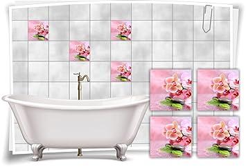 Dekoration Badezimmer fliesenaufkleber fliesenbild blumen orchidee spa wellness dekoration
