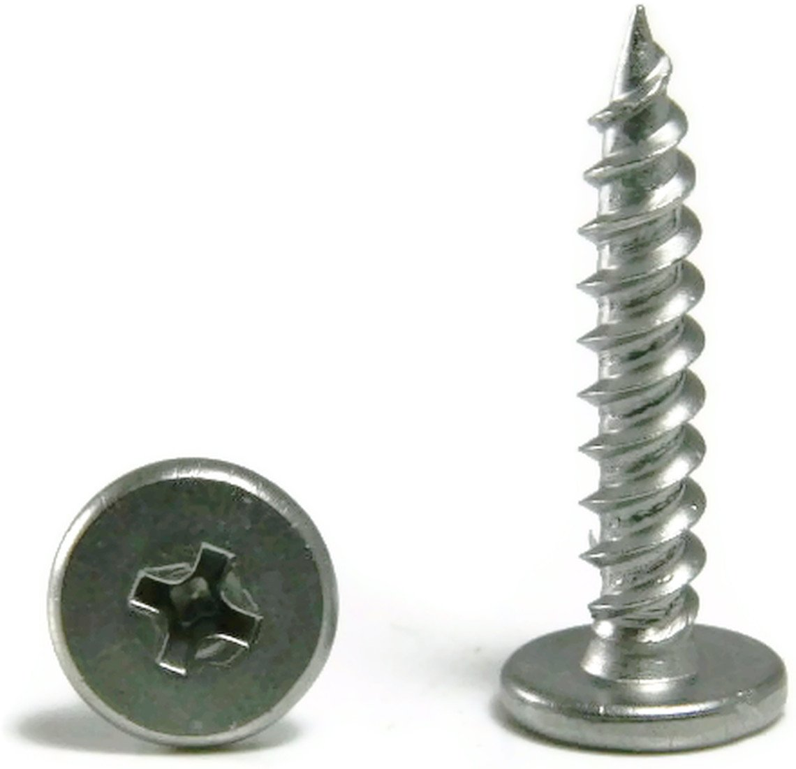 #10 x 1 Qty-250 Phillips Pancake Head Sheet Metal Screws 410 Stainless Steel