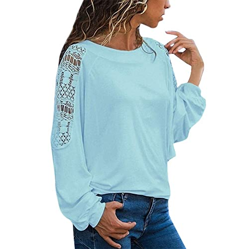 Sweatshirt Damen Kolylong® Frauen Elegant Spitze Langarm Blusen Festlich  Chiffon Oberteil Vintage Spitzenbluse Casual Langarmshirt 0ab42f2e02