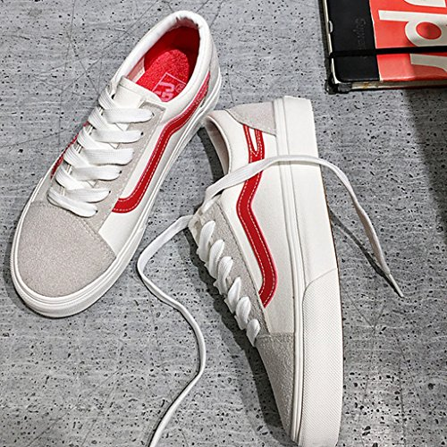 Scarpe di Red casuali passeggio da coreano selvagge di 44 YaNanHome tela uomo tela stile da basse scarpe Scarpe scarpe di Color di Size tendenza Red Espadrillas YUwBE