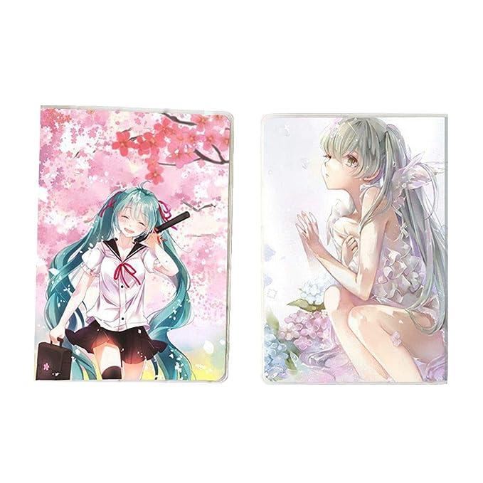 SGOT Anime Cuaderno Miku transparente plástico Cover Diario ...