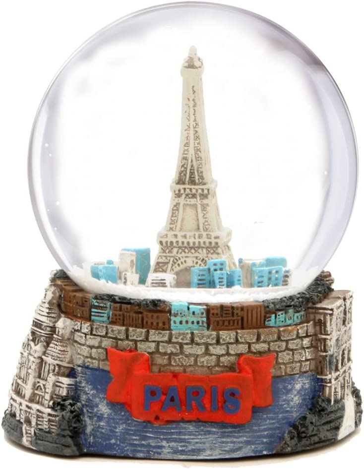 Paris Eiffel Tower Snow Globe Souvenir (3.5 Inches Tall), 65mm Glass Globes