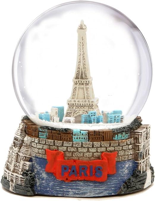 Globo de nieve de la Torre Eiffel de París (3.5 pulgadas de altura), globos de cristal de 65 mm: Amazon.es: Hogar