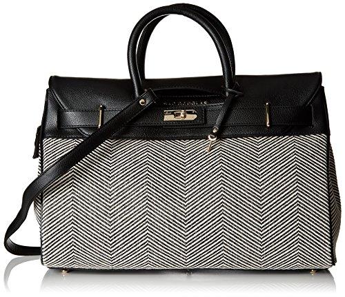 Douglas Mac Fantasia S Pyla, Handbags Woman, Black (noir Rouge Chevron), 17.5x26x40.5 Cm (wxhl)