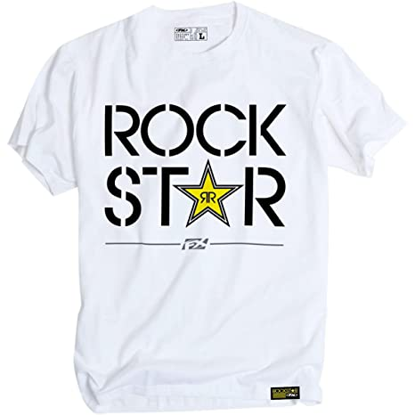 Factory Effex 18-87612 Rockstar T-Shirt White, Medium