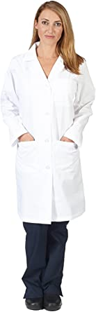 Natural Uniforms Unisex 40 inch Lab Coat Long Sleeve Professional Medical Coat