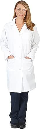 Natural Uniforms Unisex 40 inch Lab Coat, White