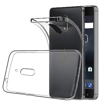 XTCASE Funda Nokia 6 Silicona Transparente, Ultrafina Suave TPU ...
