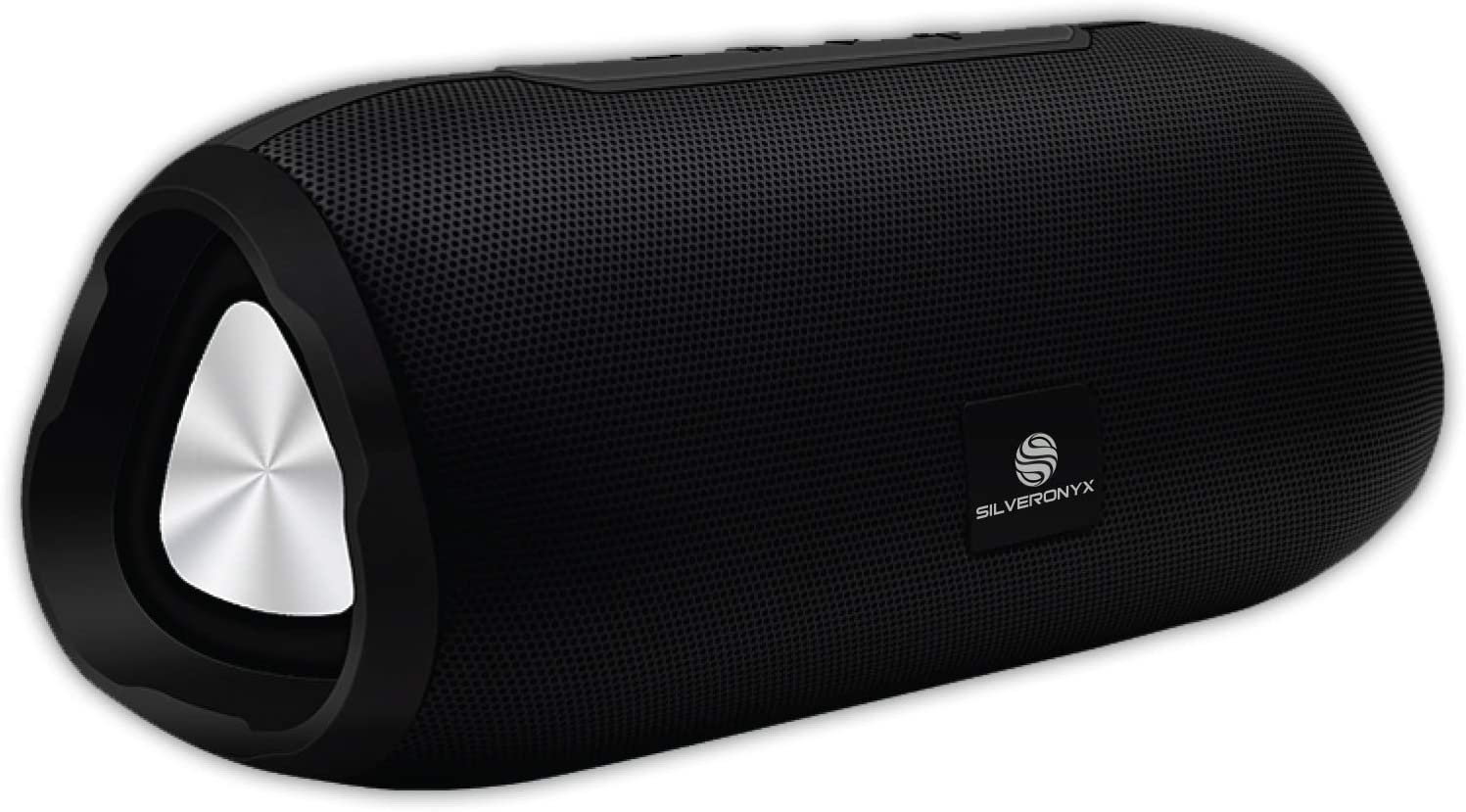 SilverOnyx Bluetooth Speakers Portable Wireless Speaker, Crystal Clear Stereo Sound, Rich Bass Subwoofer, Built-in Microphone, Long Range, Aux Cable Input, for Home and Travel - Black