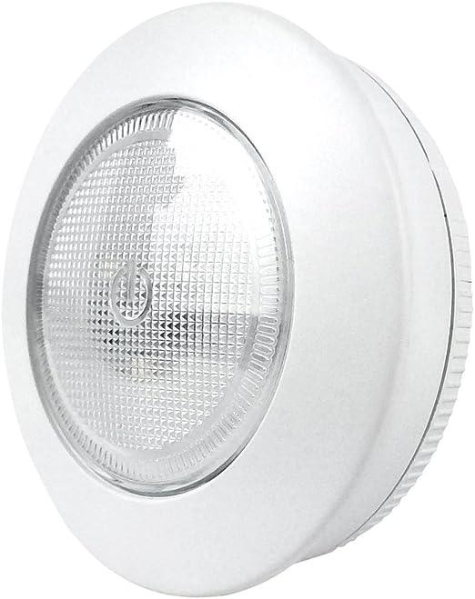 Pack de 2 bombillas Xtralite Omni pequeñas de 7,5 cm con 3 luces LED blancas, sin cable, funciona con pilas con 3 m de tiras de mando, 40 lúmenes de luz: Amazon.es: Iluminación