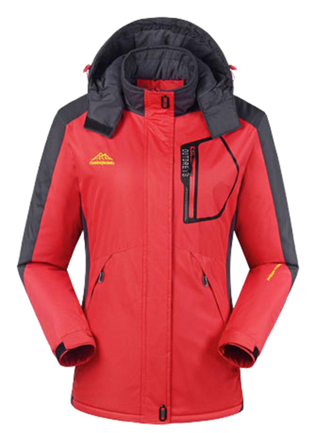 Red Women Large Lottaway Fleece Couple Durable Storm Breath Outdoor WarmingUp Ski Parka Jacket