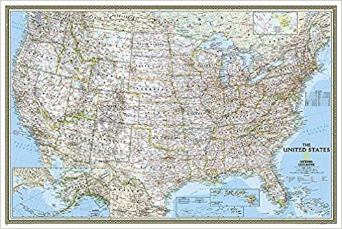 United States Classic Poster Size Tubed Wall Maps US National - Amazon map of us