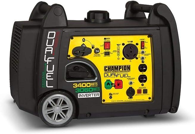 Amazon.com: Champion 3400-Watt Dual Fuel RV Ready Generador ...
