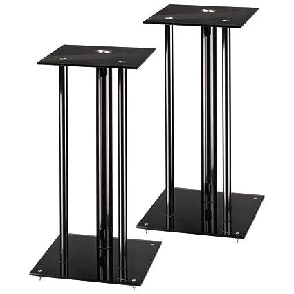 Hama 49813 - Pack de soportes para altavoces, negro: Amazon.es ...