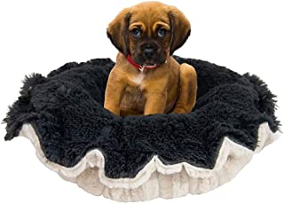 """product image for BESSIE AND BARNIE Ultra Plush Natural Beauty/Wolfhound Grey Deluxe Shag Dog/Pet Lily Pod Bed - 24"""""""