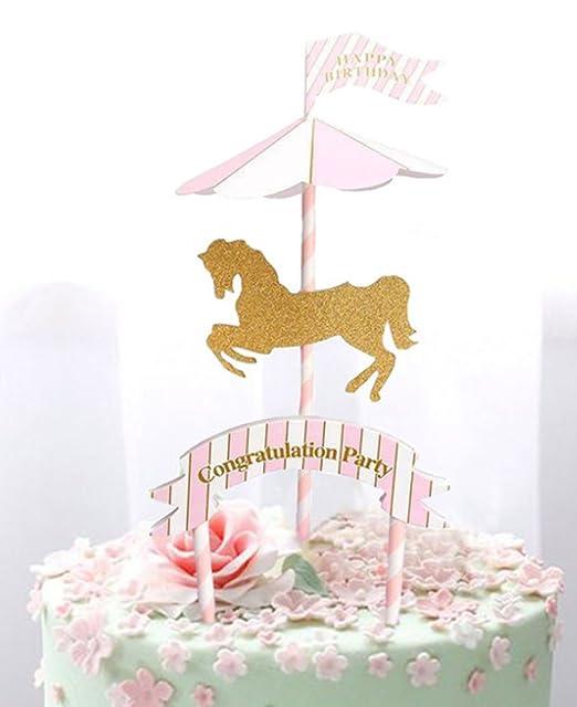 1Pieza Carrusel fiesta de cumpleaños Decoración Niños ...