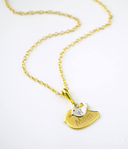 Amazoncom Custom mom Necklace personalized baby bird necklace