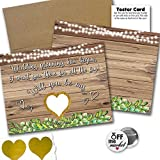 Wedding Proposal Rustic Greenery Premium Cards 6 Pack | for The Bridal Party Bridesmaid Groomsmen | 1x 1 inch Off The Market Pin