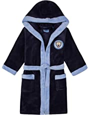 Manchester City FC Kids Hooded Dressing Gown Age 2 - 12 Years