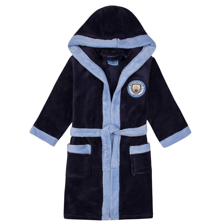Manchester City FC - Batín oficial con capucha - Para niño - Forro polar: Amazon.es: Ropa y accesorios