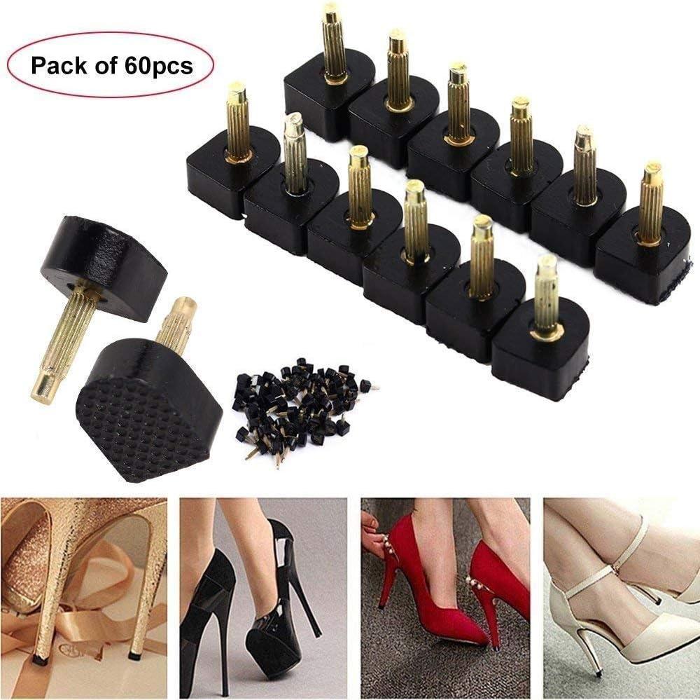 R/éparation talon Kit Caps Chaussures /à talons hauts de r/éparation Conseils Taps Goupille Ascenseurs Remplacement 60pcs 5 taille diff/érente