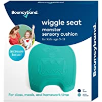 """Shaped Wiggle Seats by Bouncyband – Green Monster, 13""""x10.5""""x2.2"""" – Inflatable Sensory Cushion for Kids, Improves…"""