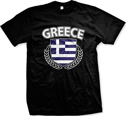 3031b1acd Emo Greece Crest With Olive Branches Mens T-shirt, Hellas, Hellenic  Republic Greek