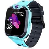 Leoninhow - Reloj inteligente para niños y niñas con llamadas telefónicas, 7 juegos, reproductor de MP3, tarjeta SD SOS…