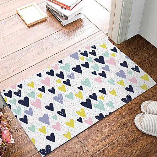 Infinidesign Welcome Doormat Entrance Mat Floor Rug Indoor//Front Door/Bathroom Thin Mats Rubber Non Slip 18