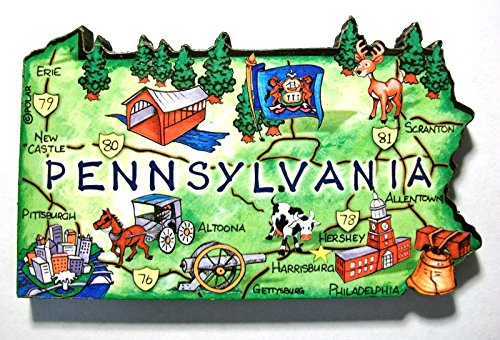 pennsylvania fridge magnet - 7