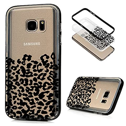 S7 Case,Galaxy S7 Case - BADALink Fashion 2 in 1 Dual Layer Hybrid Protection Shockproof Soft TPU Back Cover Clear Rubber Case with Detachable Hard PC Bumper for Samsung Galaxy S7 (2016) - (7 Dots Studio)