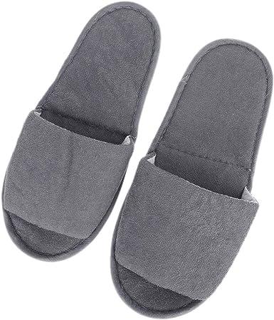 Youliy - Zapatillas de viaje, transpirables, para spa, salones de aire y salón de aire abierto-atrás gris: Amazon.es: Hogar