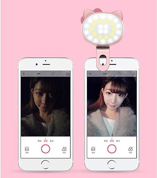 Universal Selfie luz teléfono LED LED Anillo teléfono móvil ...