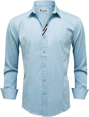Tom s Ware para Hombre Trendy Slim Fit con Bolsillo Frontal botón Abajo Camisa: Amazon.es: Ropa y accesorios