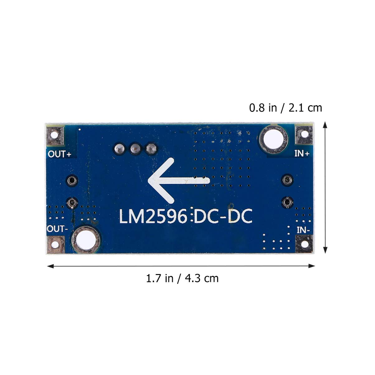 ULTECHNOVO 5pcs LM2596 Voltage Regulator Step Down Modules High Efficiency Adjustable Practical Module Buck Converter Power Supply DC-DC 1.23-30V