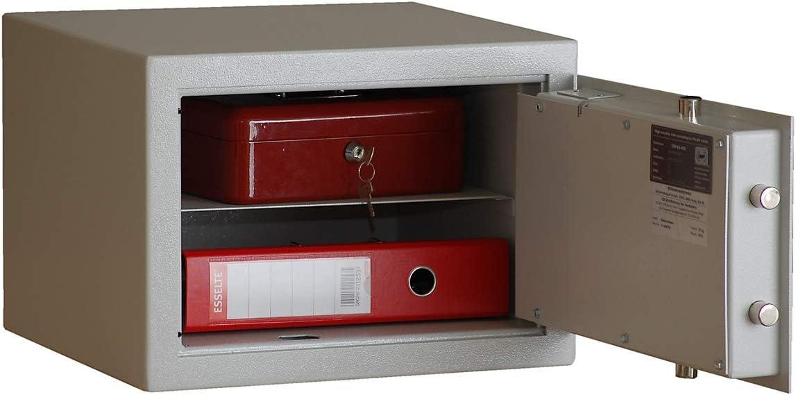 Caja fuerte - de LEDs de doble pared, puerta de doble pared de tamaño 300 x 420 x 380 mm - documentos de gabinete de documentos de gabinetes de madera tamaño pequeño